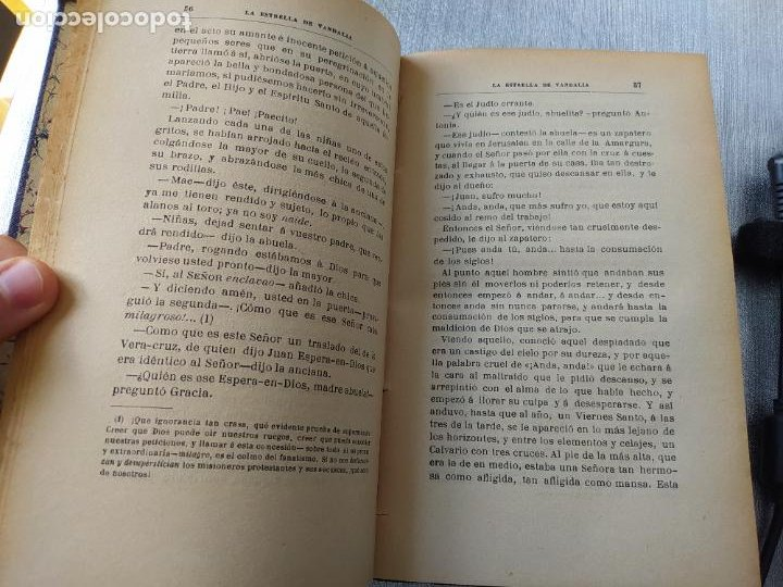 Libros antiguos: Folletin, La estrella de Vandalia, Fernan Caballero, 1908. Imprenta Barcelonesa, buen estado. - Foto 12 - 262854025