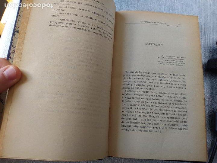 Libros antiguos: Folletin, La estrella de Vandalia, Fernan Caballero, 1908. Imprenta Barcelonesa, buen estado. - Foto 13 - 262854025