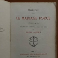 Libros antiguos: MOLIERE LE MARIAGE FORCÉ. LUIS LACOUR 1873. Lote 262983445