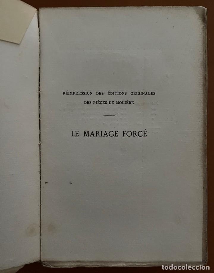 Libros antiguos: MOLIERE LE MARIAGE FORCÉ. LUIS LACOUR 1873 - Foto 3 - 262983445