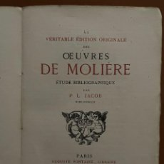 Libros antiguos: OEVVRES DE MOLIERE. P.L. JACOB, 1874. Lote 262983770