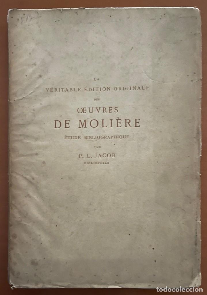 Libros antiguos: OEVVRES DE MOLIERE. P.L. JACOB, 1874 - Foto 2 - 262983770