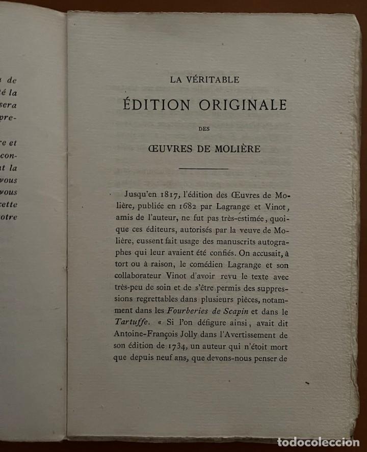 Libros antiguos: OEVVRES DE MOLIERE. P.L. JACOB, 1874 - Foto 3 - 262983770