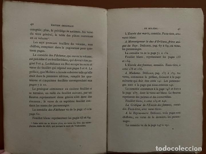 Libros antiguos: OEVVRES DE MOLIERE. P.L. JACOB, 1874 - Foto 4 - 262983770
