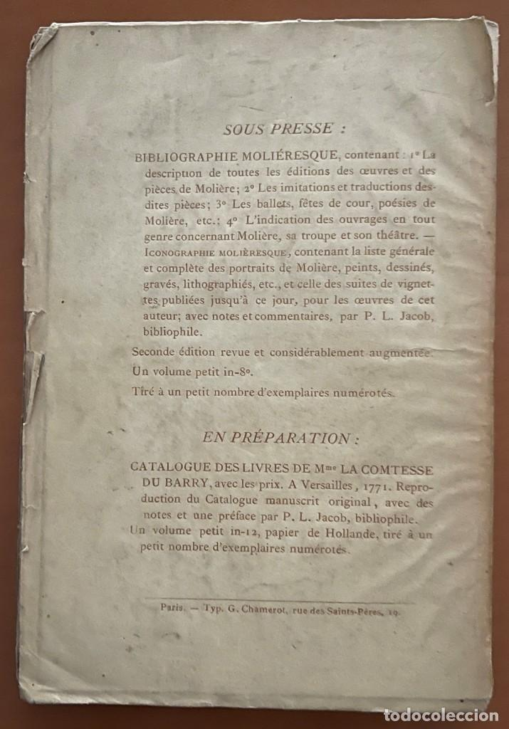 Libros antiguos: OEVVRES DE MOLIERE. P.L. JACOB, 1874 - Foto 5 - 262983770