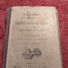 Libros antiguos: TESORO DE CONOCIMIENTOS UTILES, LECTURAS CIENTIFICAS AMENAS - LECCIONES DE COSAS 1910 G.M.BRUÑO. Lote 263558415