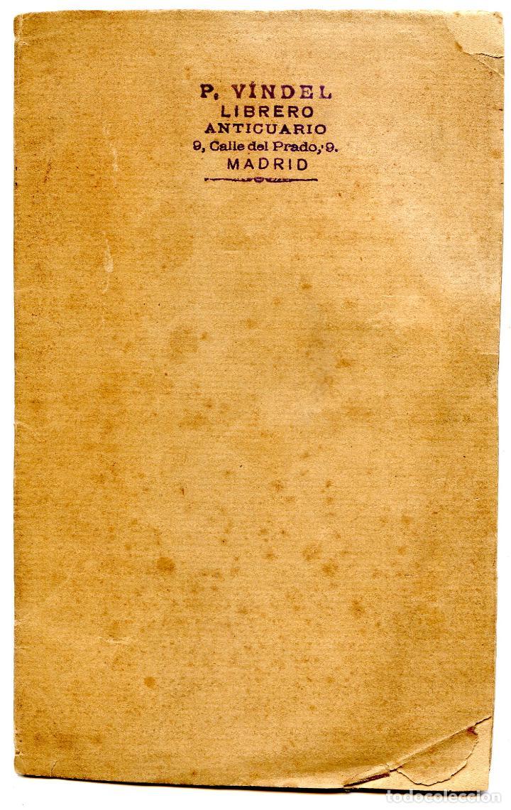 PEDRO VINDEL, LIBRERO ANTICUARIO, DESIDERATA, IMPRESO DE 14 PP. BIBLIOFILIA, CIRCA 1910 (Libros Antiguos, Raros y Curiosos - Bellas artes, ocio y coleccionismo - Otros)