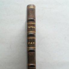 Libros antiguos: PAN. KNUT HAMSUN. Lote 263656535