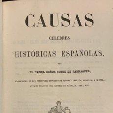 Libros antiguos: CAUSAS CÉLEBRES HISTÓRICAS ESPAÑOLAS. CONDE DE FABRAQUER. Lote 263667530