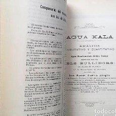 Libri antichi: AGUA XALA DEL MANANTIAL ELS BULLIDORS. CALDAS DE MALAVELLA (GERONA) 1904. (VICHY CALDENSE) (IMPERIAL. Lote 263717080