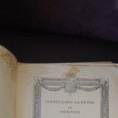 Libros antiguos: NSPECCION GENERAL DE POSITOS MEMORIA AÑO 1924, GOBIERNO DE S.M. EL INSPECTOR GENERAL.. Lote 264038860