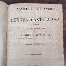 Libros antiguos: ANTIGUO DICCIONARIO DE LA LENGUA CASTELLANA DE 1854.. Lote 264072890