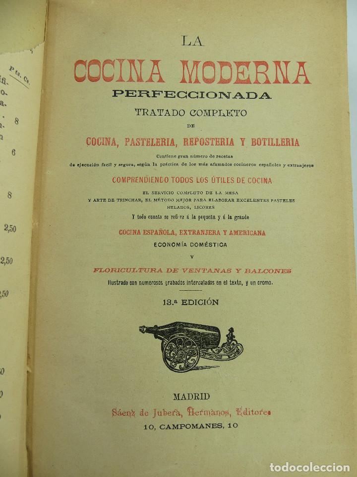 LA COCINA MODERNA PERFECCIONADA (Libros Antiguos, Raros y Curiosos - Cocina y Gastronomía)