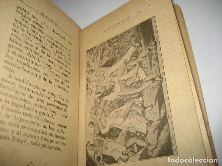 Libros antiguos: curioso librito el amor en todos los paises y epocas singularidades fisiologicas y pasionales 1905 - Foto 10 - 264793054