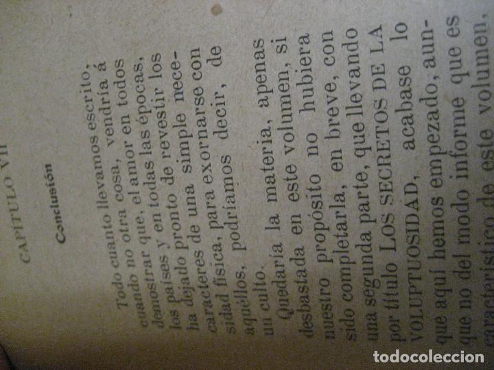 Libros antiguos: curioso librito el amor en todos los paises y epocas singularidades fisiologicas y pasionales 1905 - Foto 20 - 264793054