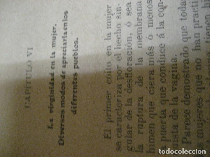Libros antiguos: curioso librito el amor en todos los paises y epocas singularidades fisiologicas y pasionales 1905 - Foto 21 - 264793054