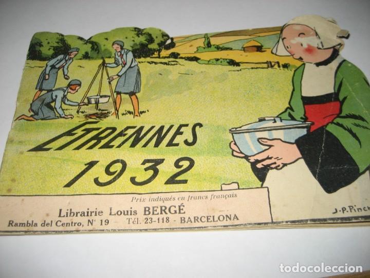 BONITO CATALOGO TROQUELADO EDITIONS GAUTIER AÑO 1932 EN FRANCÉS LIBRERIA BERGE BARCELONA (Libros Antiguos, Raros y Curiosos - Otros Idiomas)