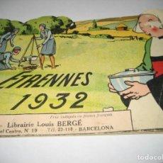 Libros antiguos: BONITO CATALOGO TROQUELADO EDITIONS GAUTIER AÑO 1932 EN FRANCÉS LIBRERIA BERGE BARCELONA. Lote 265376904