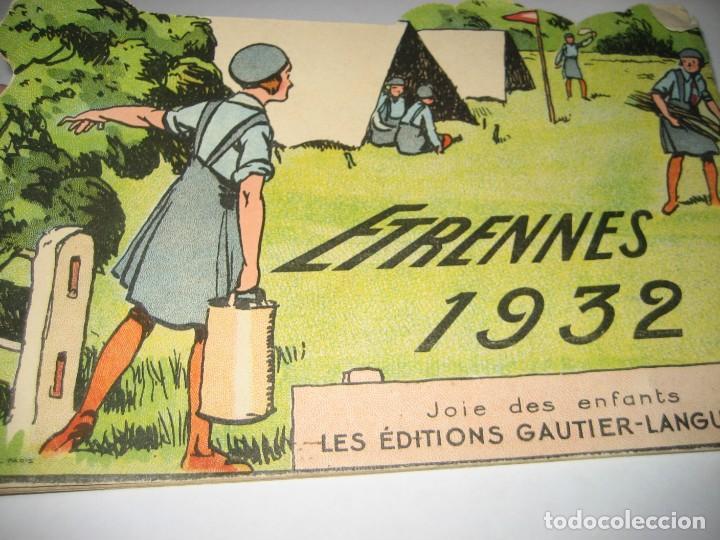 Libros antiguos: bonito catalogo troquelado editions gautier año 1932 en francés libreria berge barcelona - Foto 2 - 265376904