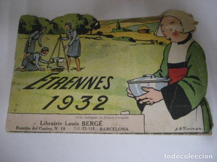 Libros antiguos: bonito catalogo troquelado editions gautier año 1932 en francés libreria berge barcelona - Foto 5 - 265376904
