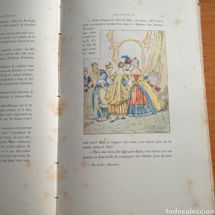 Libros antiguos: ANTIGUO LIBRO, GOLDSMITH LE VICAIRE DE WAKEFIELD - Foto 5 - 265459124