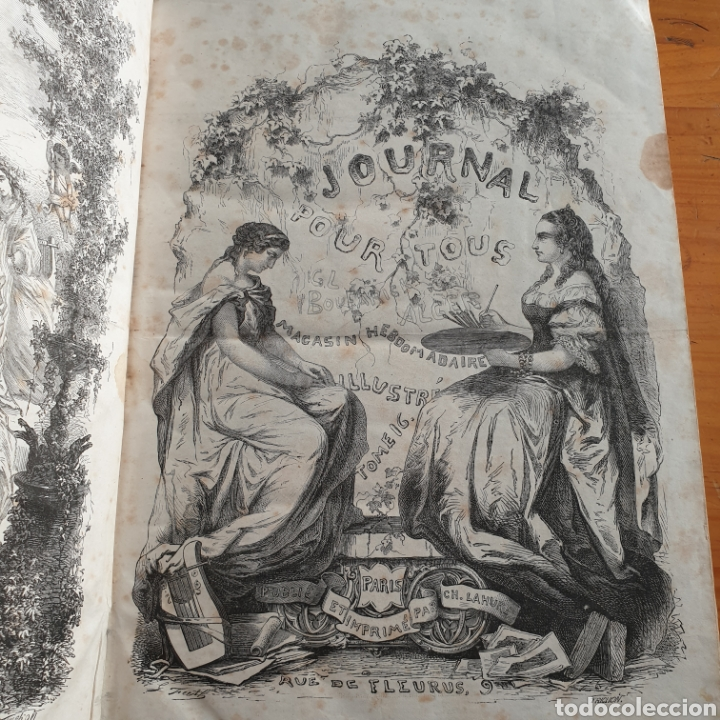 Libros antiguos: ANTIGUO LIBRO 1865, PERIÓDICO PARA TODOS JOURNAL POUR TOUS - Foto 2 - 265463304