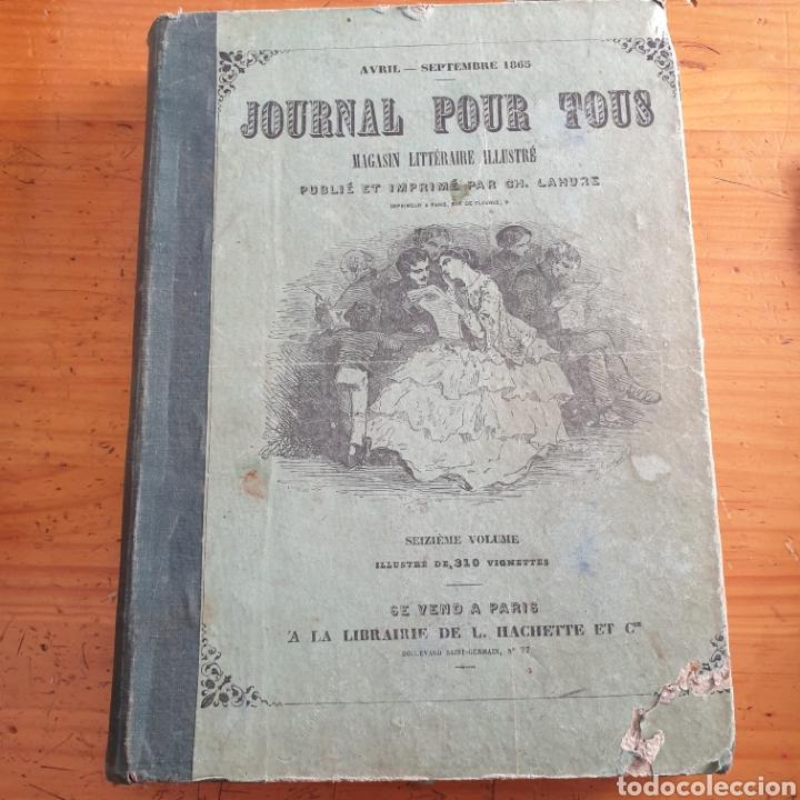 ANTIGUO LIBRO 1865, PERIÓDICO PARA TODOS JOURNAL POUR TOUS (Libros Antiguos, Raros y Curiosos - Otros Idiomas)