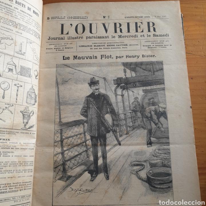 ANTIGUO LIBRO 1907, PERIÓDICO L'OUVRIER (Libros Antiguos, Raros y Curiosos - Otros Idiomas)