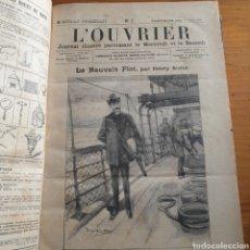 Libros antiguos: ANTIGUO LIBRO 1907, PERIÓDICO L'OUVRIER. Lote 265464784