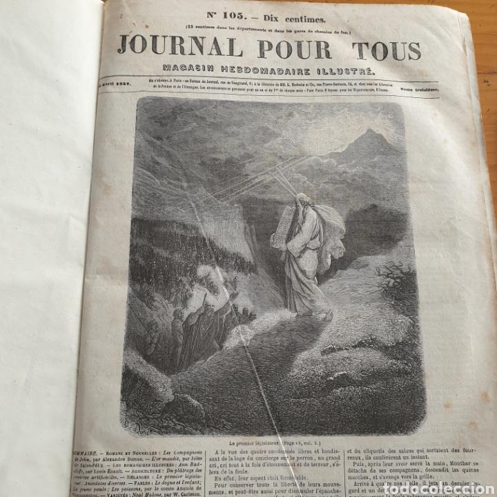 ANTIGUO LIBRO 1858, PERIÓDICO PARA TODOS JOURNAL POUR TOUS. (Libros Antiguos, Raros y Curiosos - Otros Idiomas)