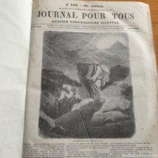 Libros antiguos: ANTIGUO LIBRO 1858, PERIÓDICO PARA TODOS JOURNAL POUR TOUS.. Lote 265471169