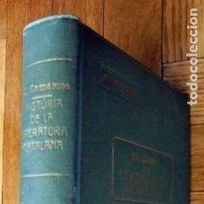 Libros antiguos: HISTÒRIA DE LA LITERATURA CATALANA. JOSEP COMERMA VILANOVA PVRE.ED. POLÍGLOTA 1923 1ª EDICIÓ. Lote 265553804
