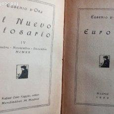 Libros antiguos: EL NUEVO GLOSARIO. EUGENIO D'ORS. RAFAEL CARO RAGGIO 1922.. Lote 265852624