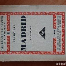 Livres anciens: 1ª EDICIÓN - 1929 - MADRID - JOSEP PLÁ / EN CATALÁN. Lote 265945628