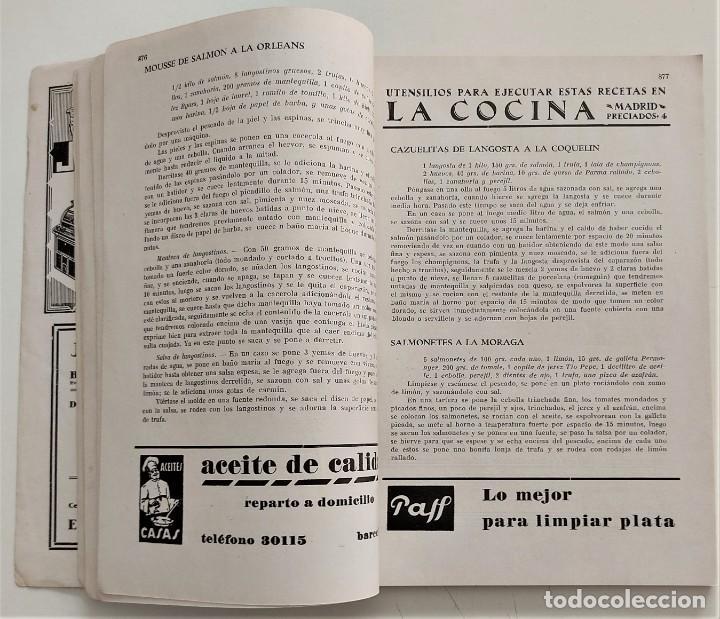 Libros antiguos: DOS REVISTAS MENAGE DE JULIO Y OCTUBRE DE 1934 - BUEN ESTADO - Foto 6 - 266096788