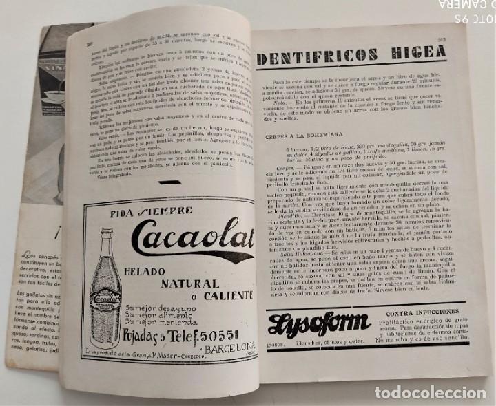 Libros antiguos: DOS REVISTAS MENAGE DE JULIO Y OCTUBRE DE 1934 - BUEN ESTADO - Foto 11 - 266096788