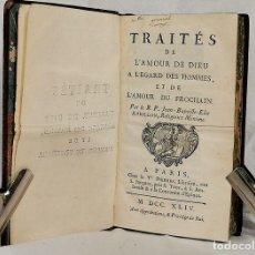 Livres anciens: TRAITÉS DE LAMOUR DE DIEU . 1745. Lote 266315138