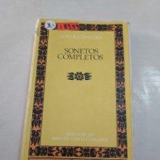 Livres anciens: 18359 - SONETOS COMPLETOS - POR LUIS DE GONGORA - EDITORIAL CLASICOS CASTALIA - Nº 1 - AÑO 1975. Lote 266648283