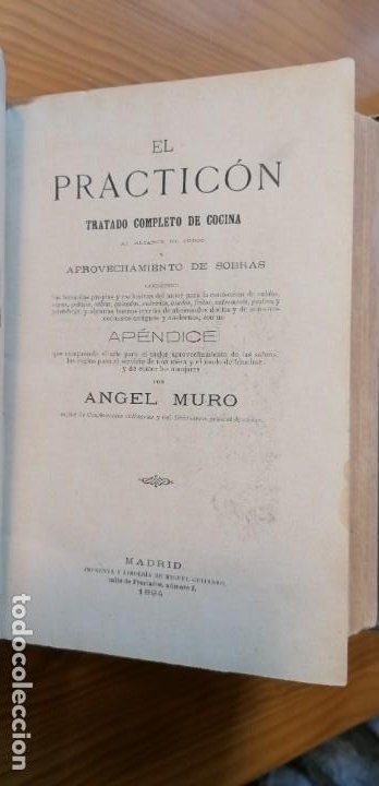 """Libros antiguos: LIBRO DE COCINA """"EL PRACTICÓN"""". ANGEL MURO. PRIMERA EDICIÓN. 1894 - Foto 18 - 266750143"""