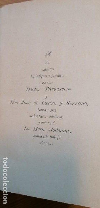 """Libros antiguos: LIBRO DE COCINA """"EL PRACTICÓN"""". ANGEL MURO. PRIMERA EDICIÓN. 1894 - Foto 20 - 266750143"""