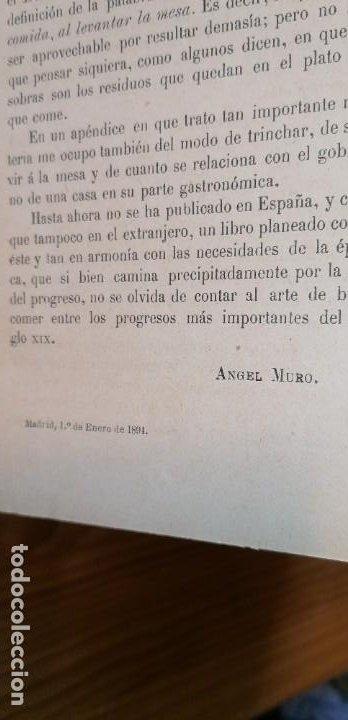 """Libros antiguos: LIBRO DE COCINA """"EL PRACTICÓN"""". ANGEL MURO. PRIMERA EDICIÓN. 1894 - Foto 21 - 266750143"""