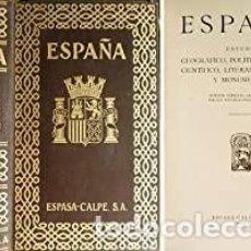 Libros antiguos: HISTORIA DE ESPAÑA - ESPASA CALPE 1935. Lote 266999214