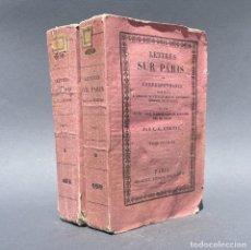 Libros antiguos: AÑO 1820 - LETTRES SUR PARIS - ÉTIENNE, CHARLES-GUILLAUME - POLITICA. Lote 267062869