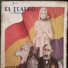 """Libros antiguos: LIBRO ORIGINAL TEATRO DEL PUEBLO """"LOS ENEMIGOS DE LA REPUBLICA """" DE ÁLVARO ORRIOLS,1934. ORRI. Lote 267127239"""