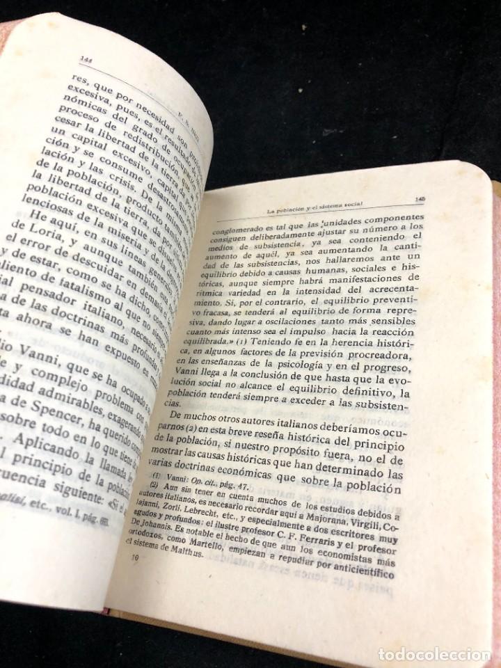 Libros antiguos: La Población y el Sistema Social. Francesco S. Nitti. Ciencias Sociales, Demografía. 1920 - Foto 3 - 267130534