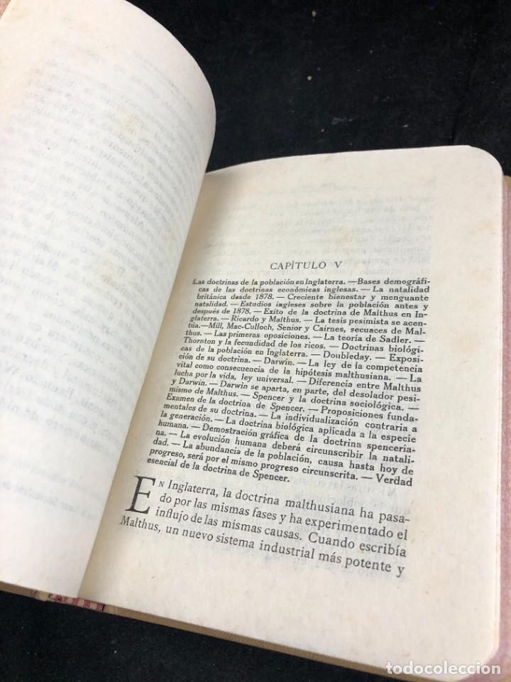 Libros antiguos: La Población y el Sistema Social. Francesco S. Nitti. Ciencias Sociales, Demografía. 1920 - Foto 5 - 267130534