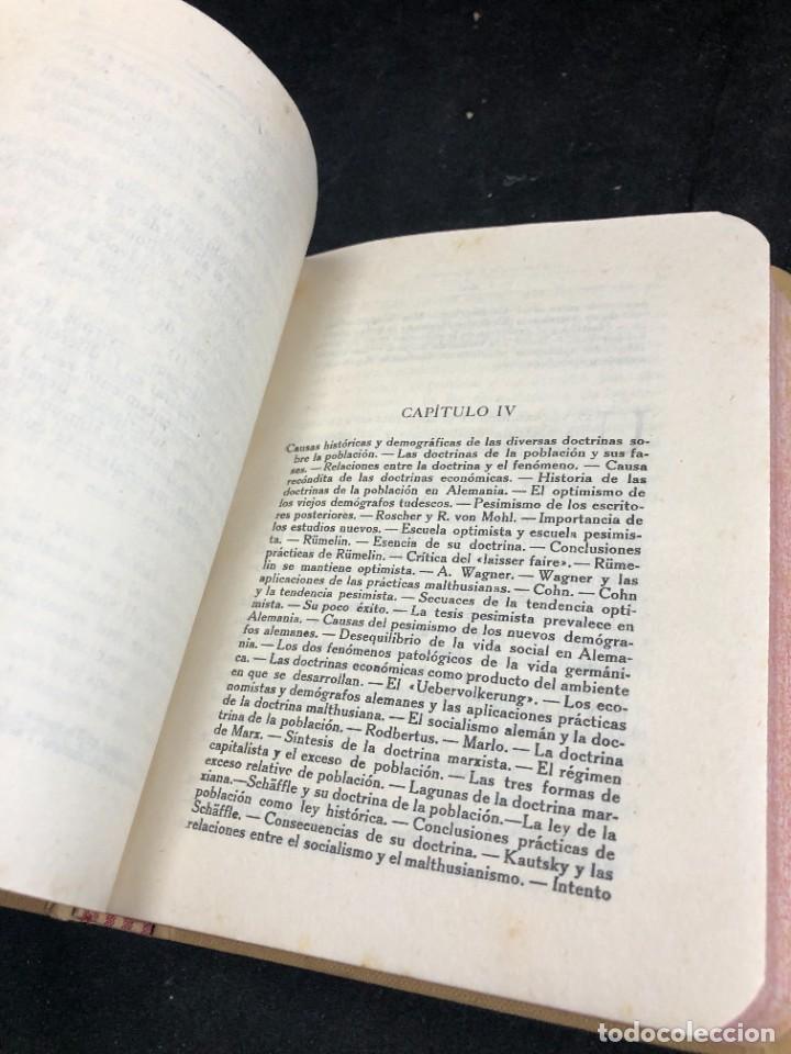 Libros antiguos: La Población y el Sistema Social. Francesco S. Nitti. Ciencias Sociales, Demografía. 1920 - Foto 6 - 267130534