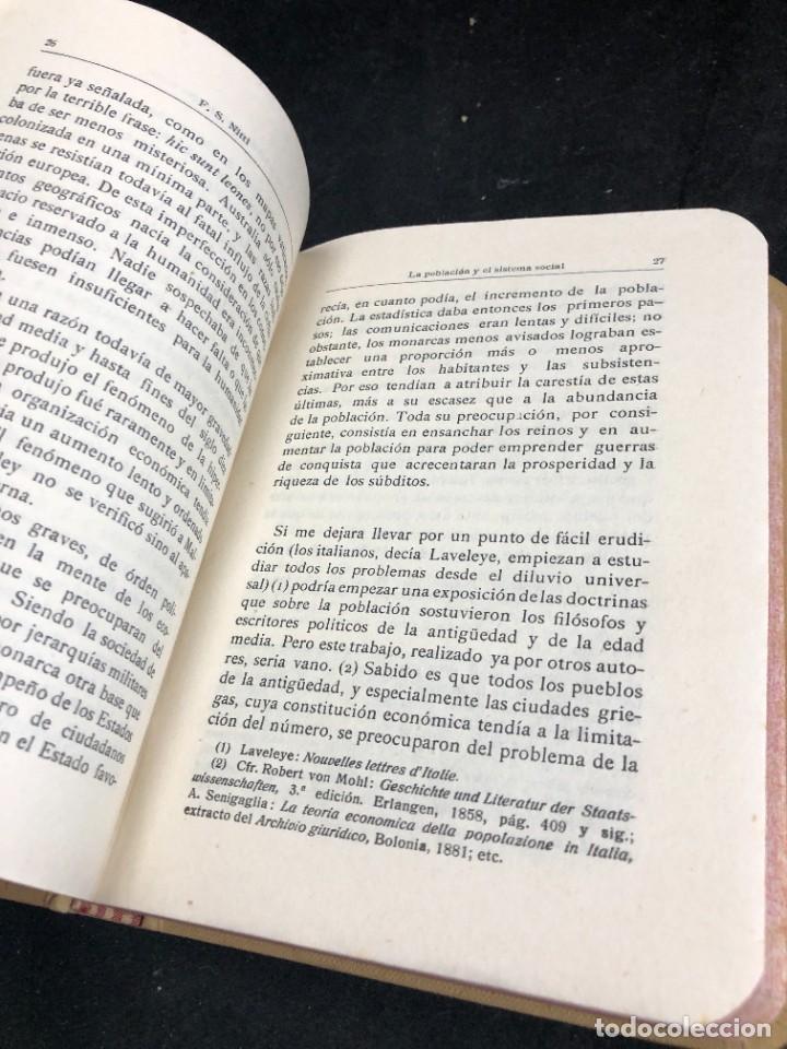 Libros antiguos: La Población y el Sistema Social. Francesco S. Nitti. Ciencias Sociales, Demografía. 1920 - Foto 7 - 267130534