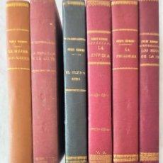 Libros antiguos: LOTE 6 NOVELAS DE ENRIQUE PÉREZ ESCRICH - EL MERCANTIL VALENCIANO - LA MUJER ADÚLTERA Y OTRAS. Lote 267356004