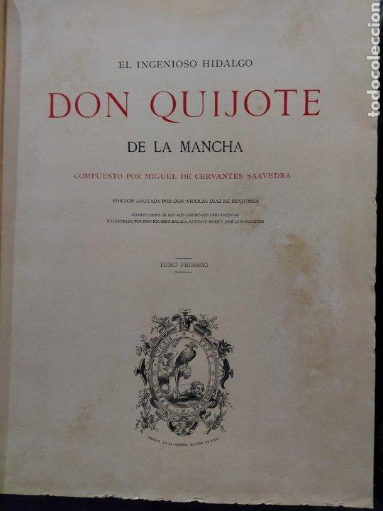 Libros antiguos: Quijote - Foto 2 - 267704529